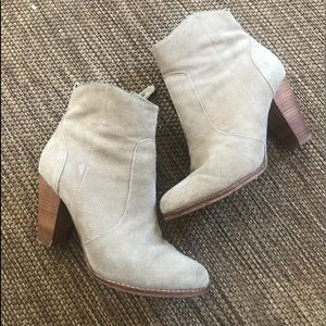 Joie Suede Booties Size 9 Zipper Heel Booties